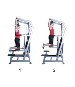 assisted pullup machine