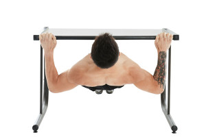 Easy improvised table rows leave you no excuse for not working your back!