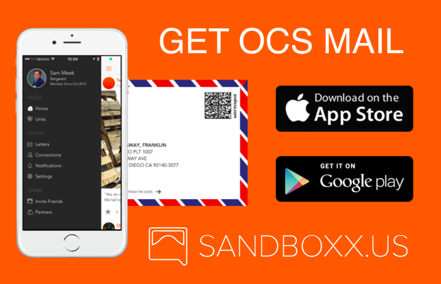 Training for Boot Camp or OCS? Get letters while you're off the grid with Sandboxx.
